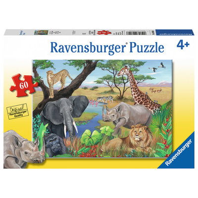 Ravensburger Ravensburger Puzzle 60pc Safari Animals