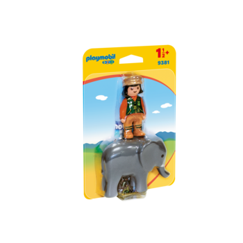 Playmobil 123 Zoo Zookeeper with Elephant