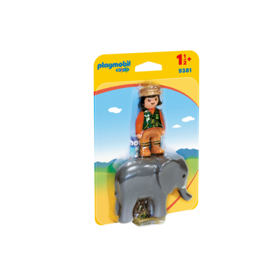 Playmobil Playmobil 123 Zoo Zookeeper with Elephant