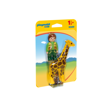 Playmobil 123 Zoo Zookeeper with Giraffe