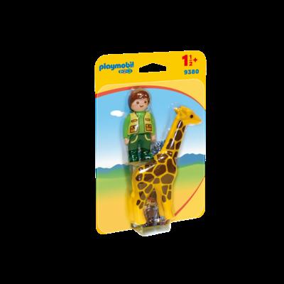 Playmobil Playmobil 123 Zoo Zookeeper with Giraffe