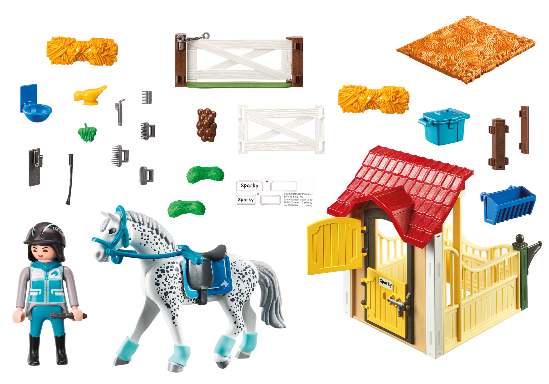 Moderne Playmobil Country Horse Stable with Appaloosa - Minds Alive! Toys GH-85