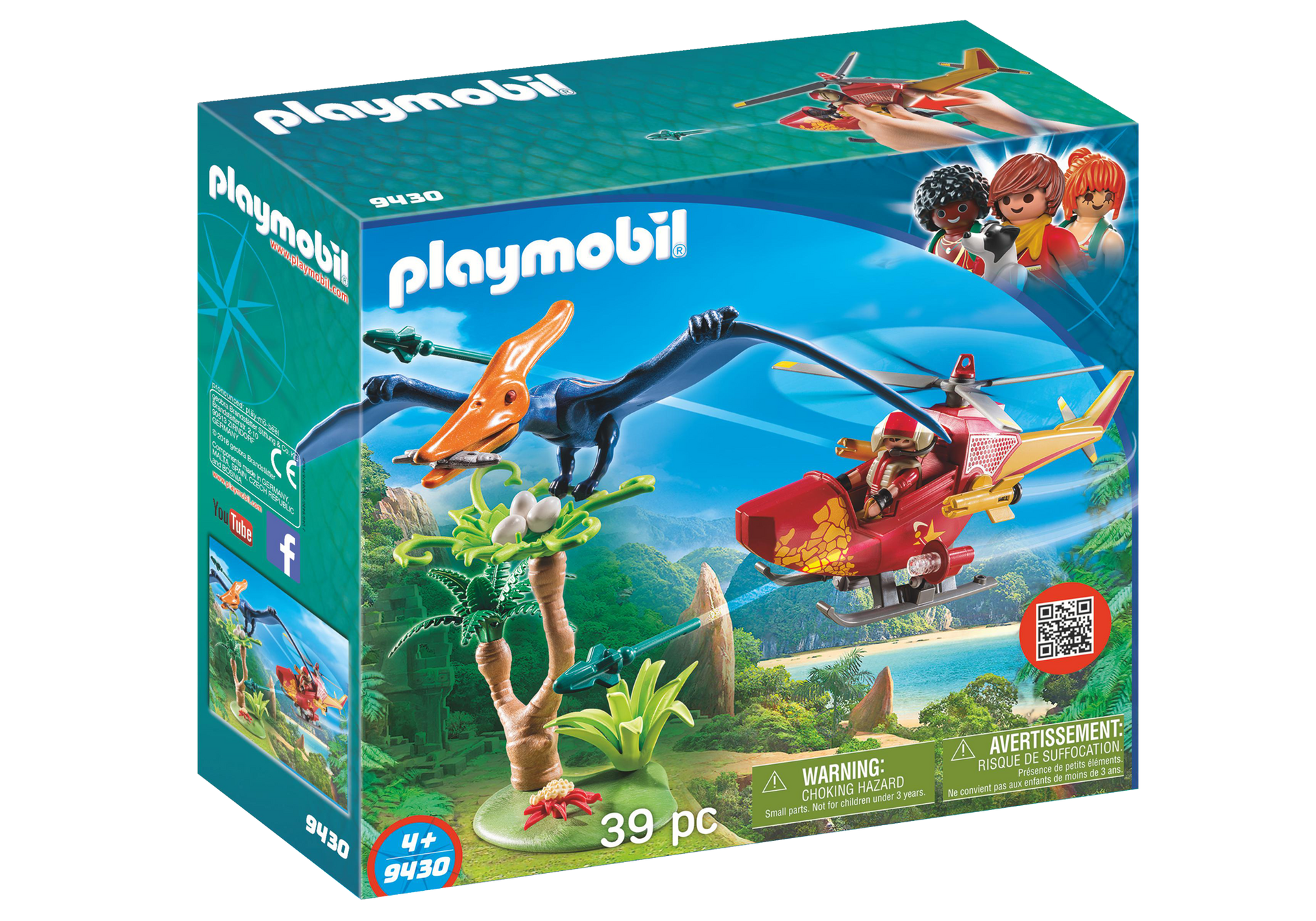 Playmobil Dino Explorers Adventure Copter With Pterodactyl Minds