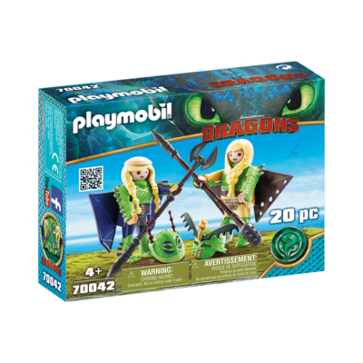Playmobil Playmobil Dragons Ruffnut and Tuffnut  with Flight Suit