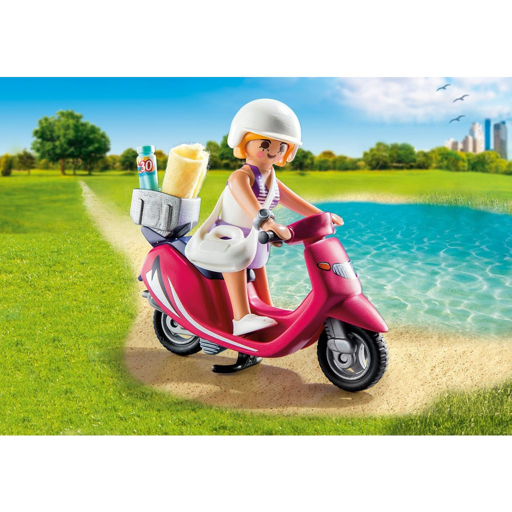 Playmobil Special Beachgoer with Scooter