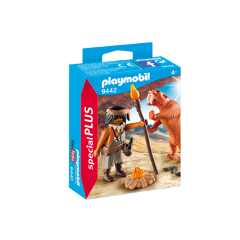 Playmobil Special Caveman with Sabertooth Tiger