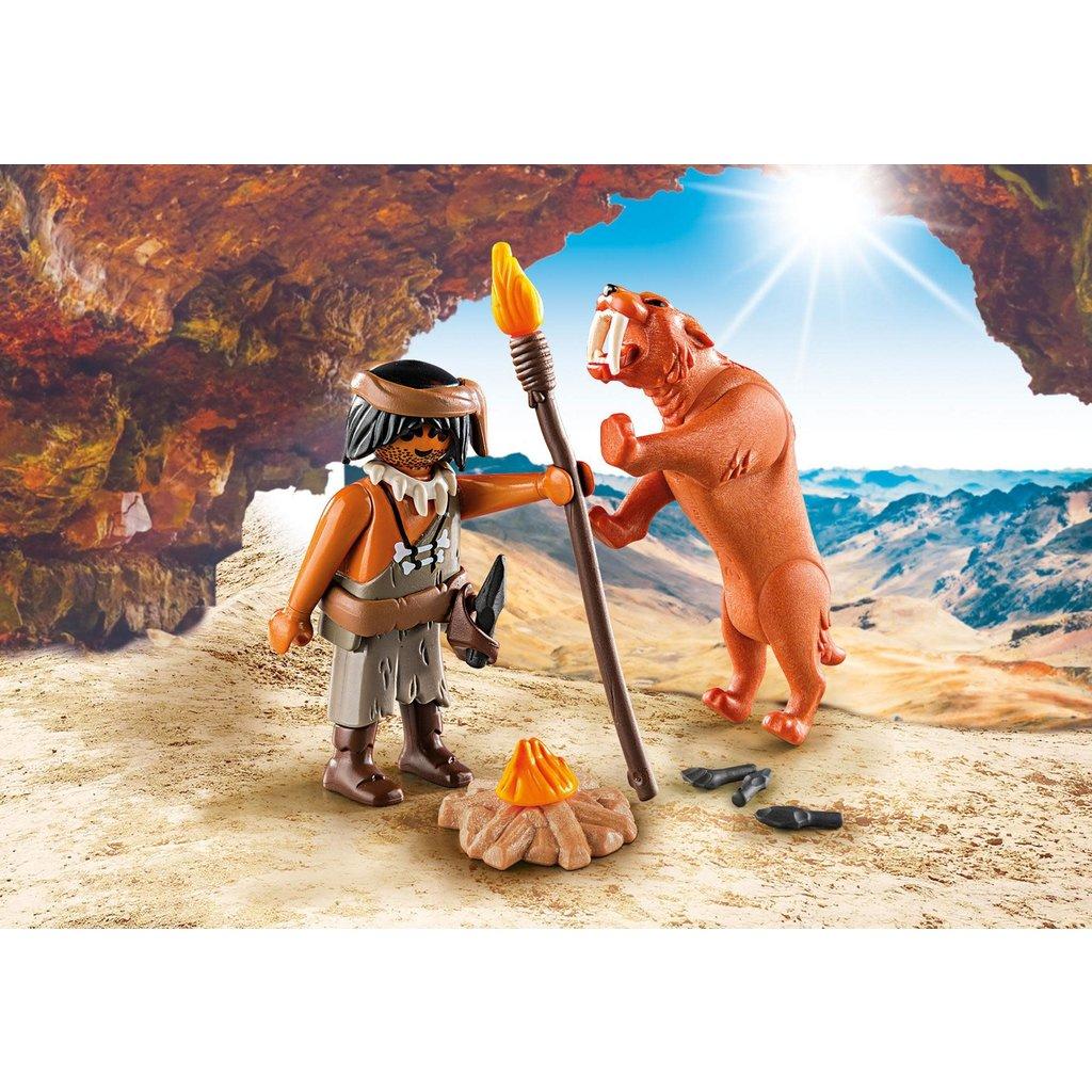 Playmobil Special Caveman with Sabertooth Tiger