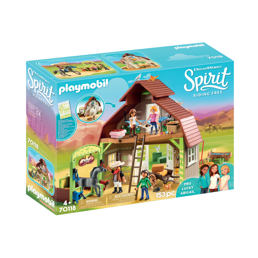 Playmobil Spirit II Barn with Lucky Pru & Abigail