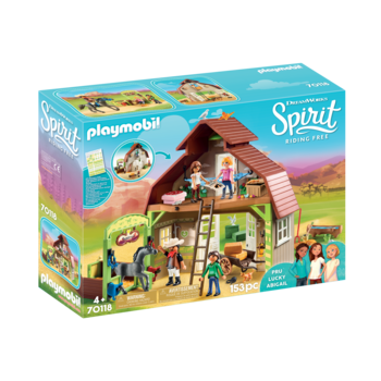 Playmobil Spirit II Barn with Lucky Pru & Abigail
