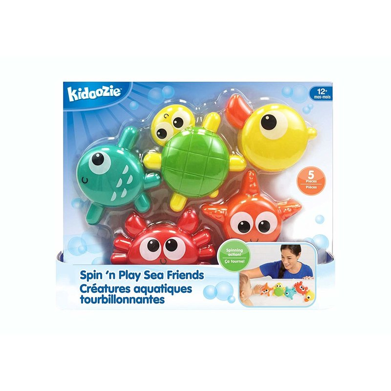 Kidoozie Kidoozie Bath Spin 'n Play Sea Friends