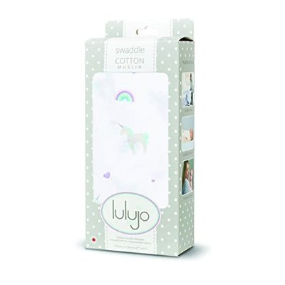 Lulujo Muslin Swaddle Unicorns