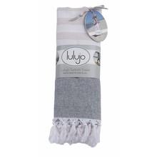 Lulujo Turkish Towels Navy & Oatmeal