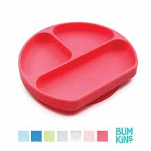 Bumkins Silicone Grip Dishes Red