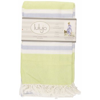 Lulujo Turkish Towels Green & Aqua Blue