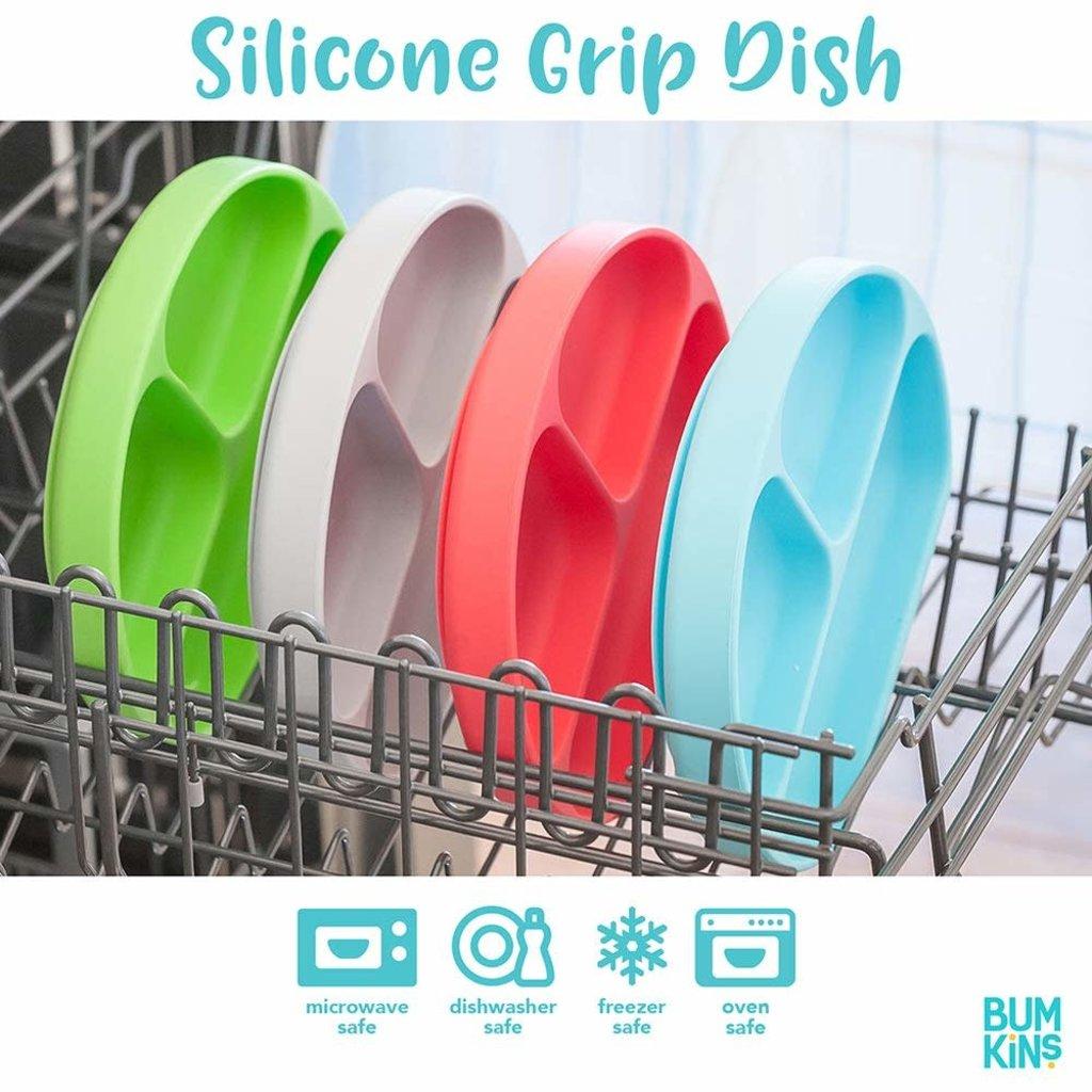 Bumkins Silicone Grip Dish Pink