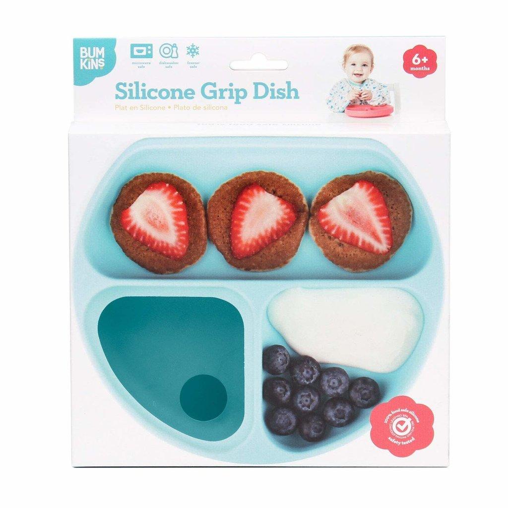 Bumkins Silicone Grip Dish Blue