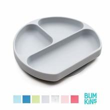 Bumkins Silicone Grip Dish Grey