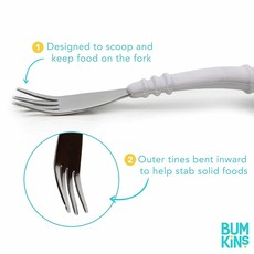 Bumkins Spoon and Fork Grey