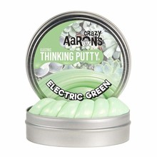 Crazy Aaron Crazy Aaron's Thinking Putty Small Tin Electric Green