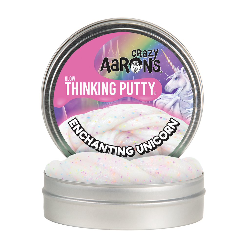 Crazy Aaron 's Thinking Putty Glo in the Dark Enchanting Unicorn
