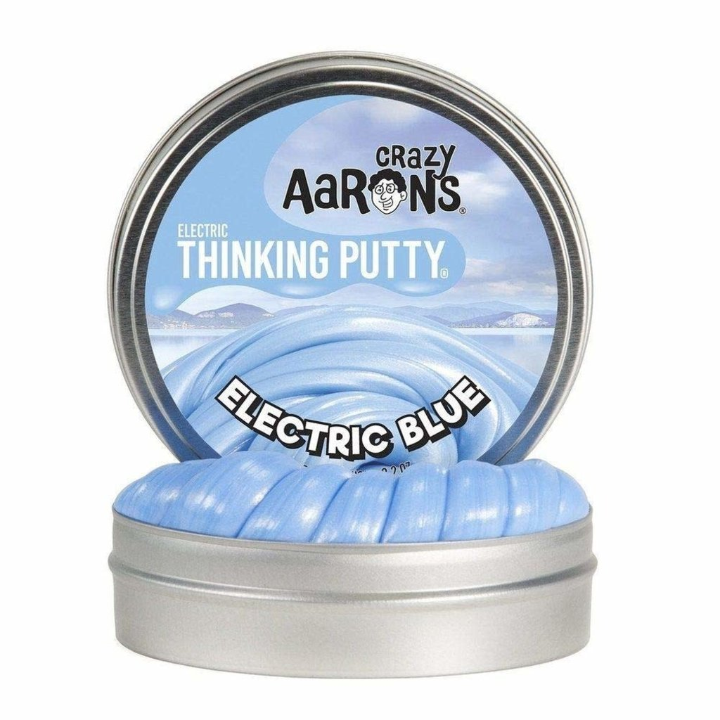 Crazy Aaron 's Thinking Putty Small Tin Electric Blue