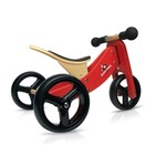 Kinderfeet Tiny Tots Convertible Balance Bike Red