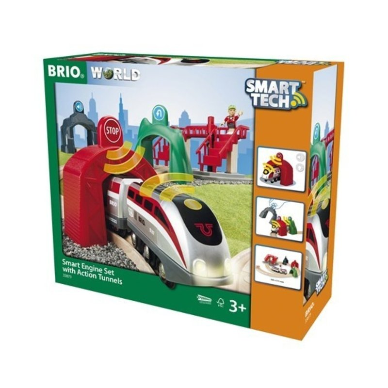 Brio Brio World Train Smart Engine Set with Action Tunnels
