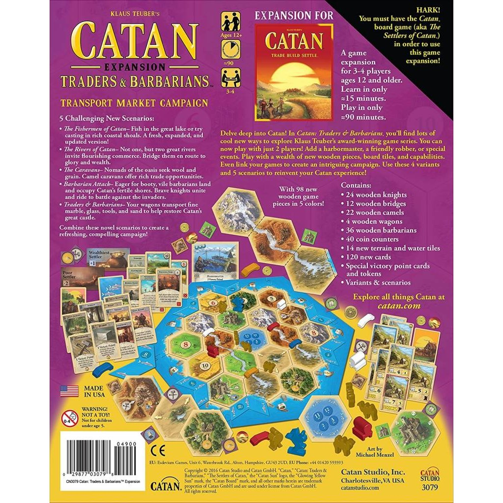Catan Studios Catan Game Expansion: Traders & Barbarians