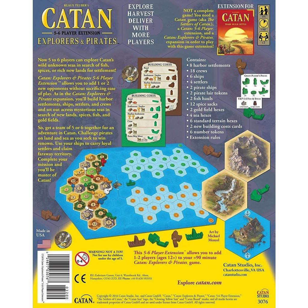Catan Studios Catan Game 5-6 Player Extension: Pirates & Explorers