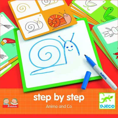 DJeco Djeco Drawing Step by Step Animals