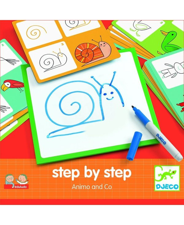 Djeco Drawing Step by Step Animals