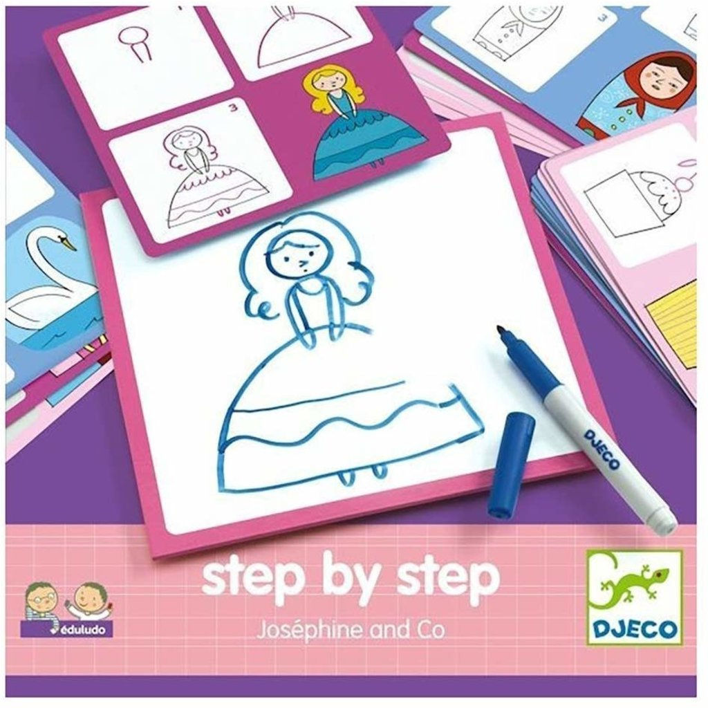 DJeco Djeco Drawing Step by Step Josephine