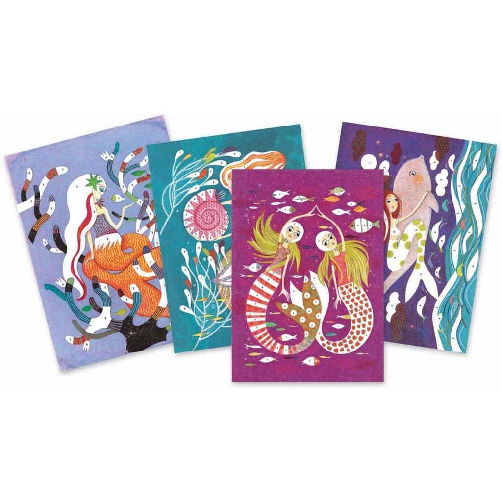 DJeco Djeco Glitter Boards Mermaids