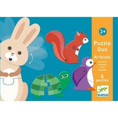 Djeco Puzzle Duo Articulo Animals