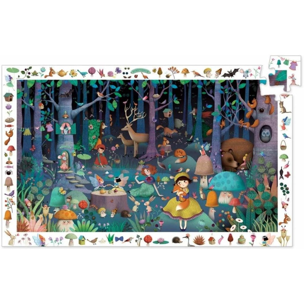 Djeco Puzzle Observation 100pcs Enchanted Forest