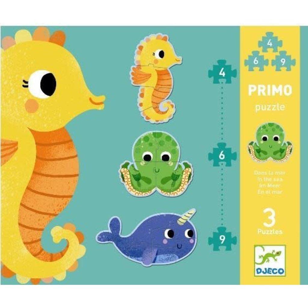DJeco DJeco Puzzle Primo 4, 6, 9 pcs In the Sea