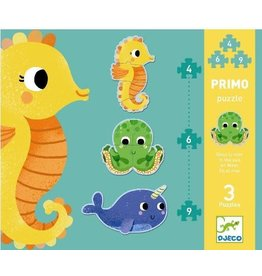 DJeco DJeco Puzzle Primo 4, 6, 9 pcs In the Sea