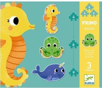 DJeco Puzzle Primo 4, 6, 9 pcs In the Sea