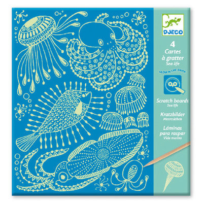 DJeco Djeco Scratch Card Sea Life