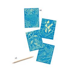 DJeco Djeco Scratch Card Sea Life