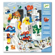 DJeco Djeco Sticker Story Monster Invasion