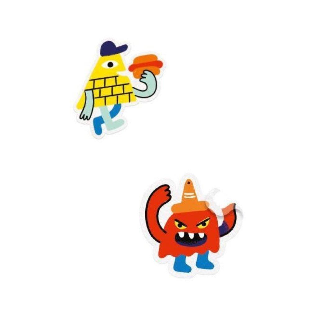 DJeco Djeco Sticker Story Monster Invasion
