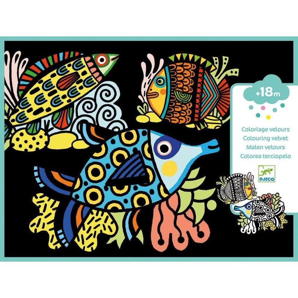 DJeco Djeco Velvet Colouring Pretty Fishes