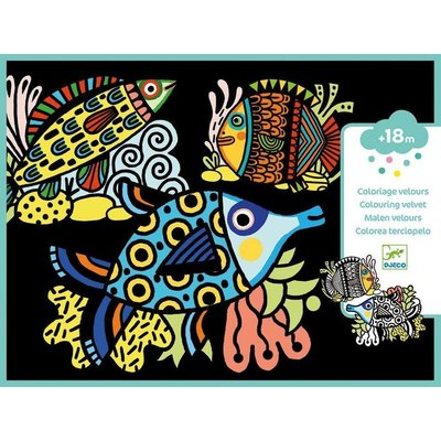 DJeco Djeco Velvet Colouring Pretty Fishes