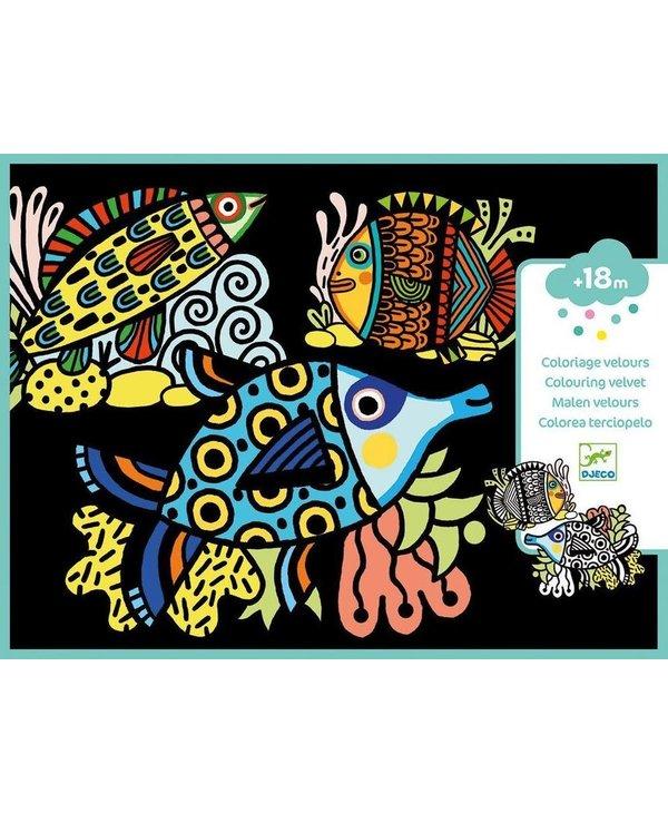 Djeco Velvet Colouring Pretty Fishes