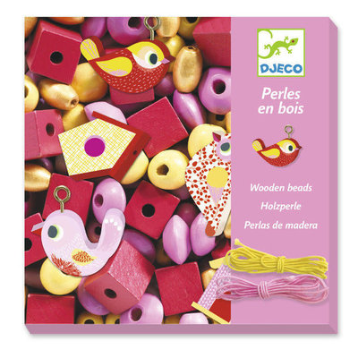 DJeco Djeco Wooden Beads Birds