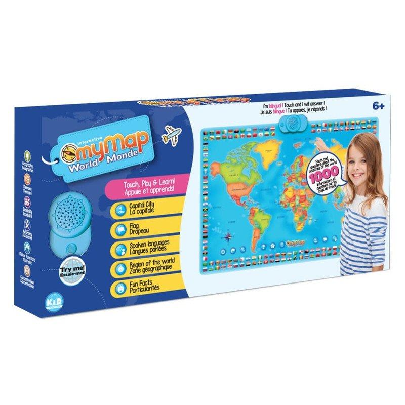 My Map Interactive World Wall Map