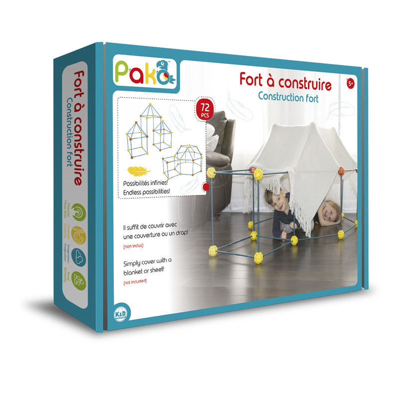 Pako Build & Play Construction Fort