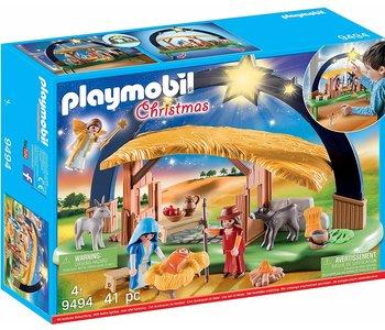 Playmobil Christmas Iluminating Nativity Scene