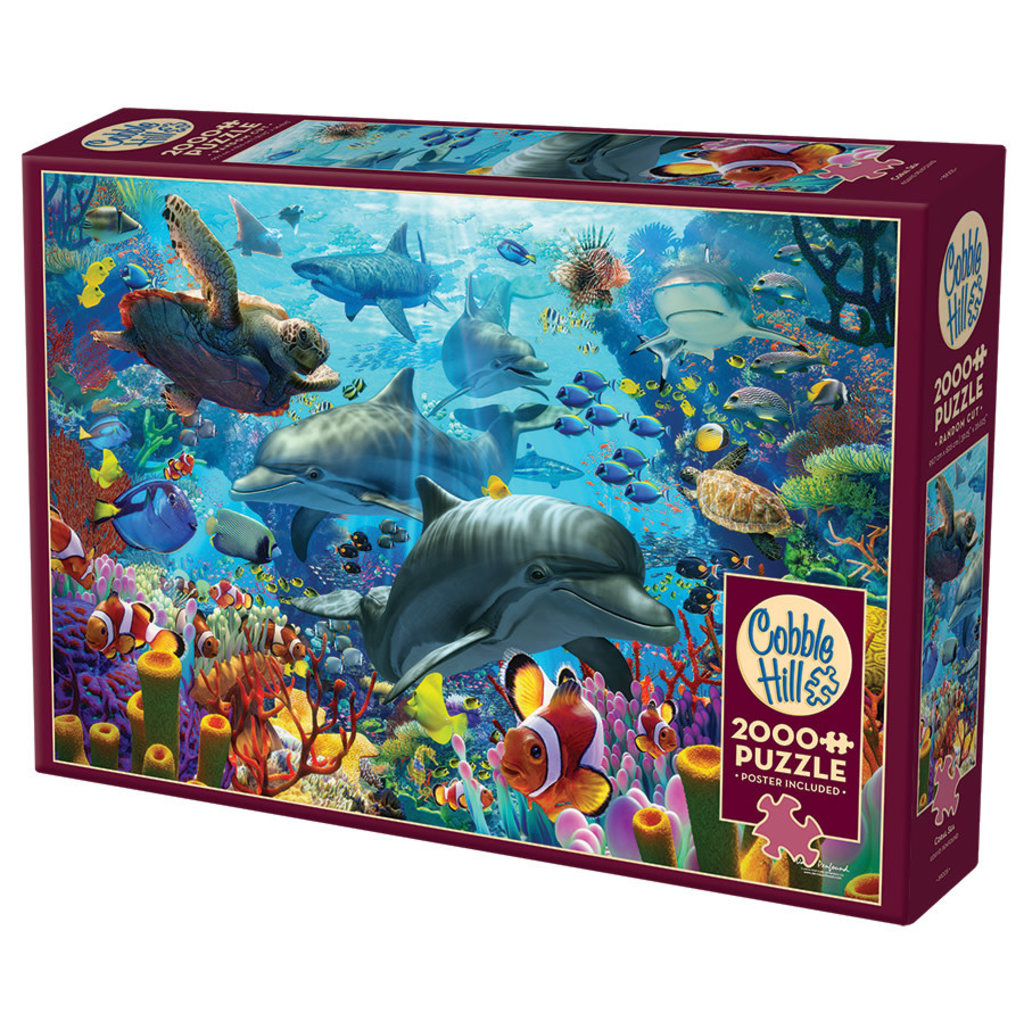 Cobble Hill Puzzles Cobble Hill Puzzle 2000pc Coral Sea